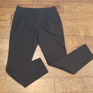Madewell black wool-blend pants